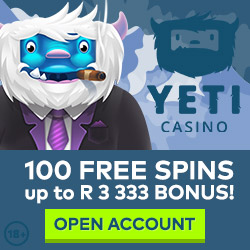 Play in ZAR at Yeti Casino